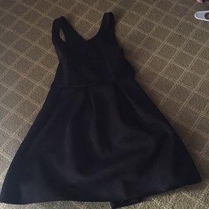Black short express dress